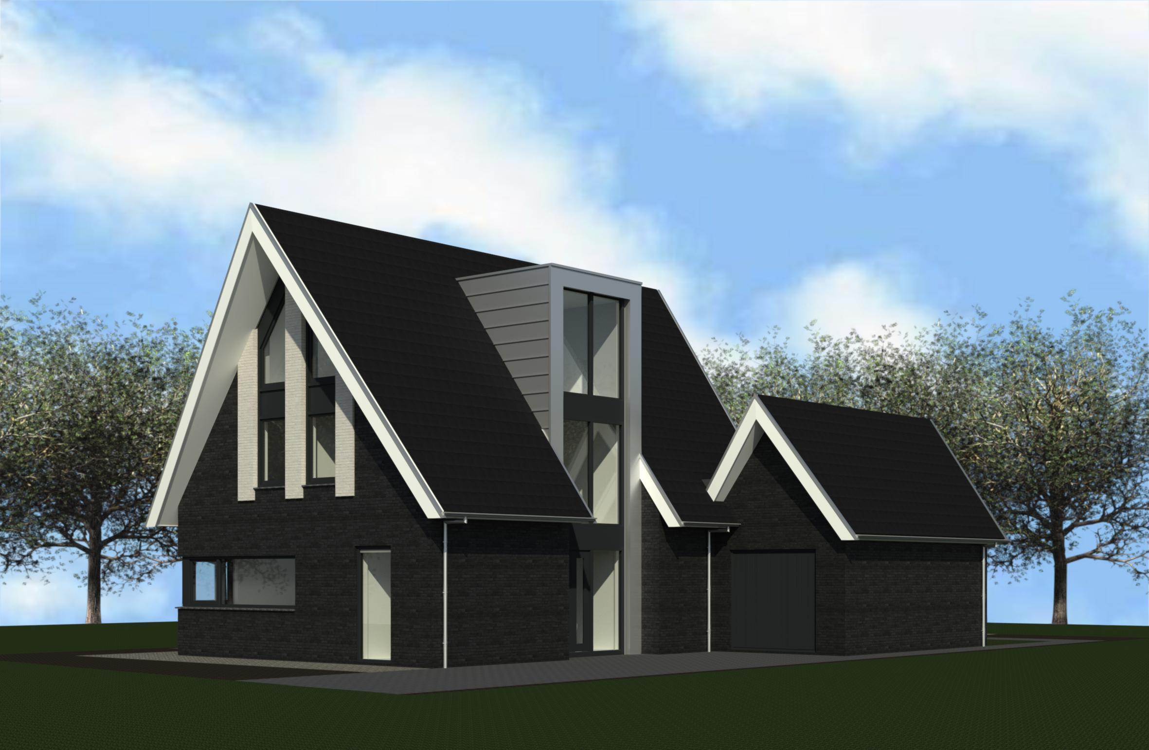 Moderne woning de ruiter bouw en advies for Moderne vrijstaande woning